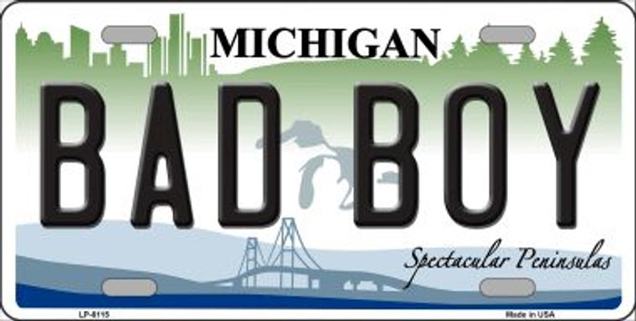 Bad Boy Michigan Wholesale Metal Novelty License Plate LP-6115