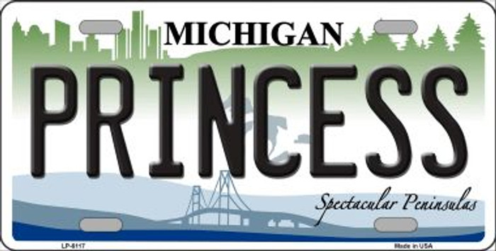Princess Michigan Wholesale Metal Novelty License Plate LP-6117