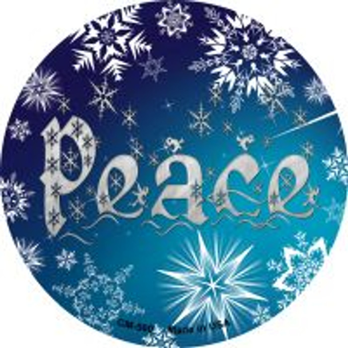 Peace Wholesale Novelty Metal Mini Circle Magnet CM-560