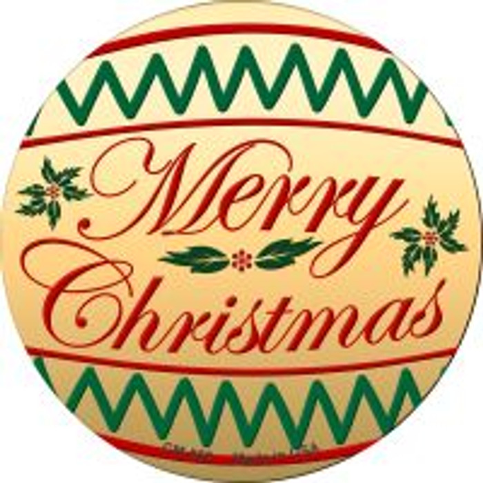Merry Christmas Wholesale Novelty Metal Mini Circle Magnet CM-568