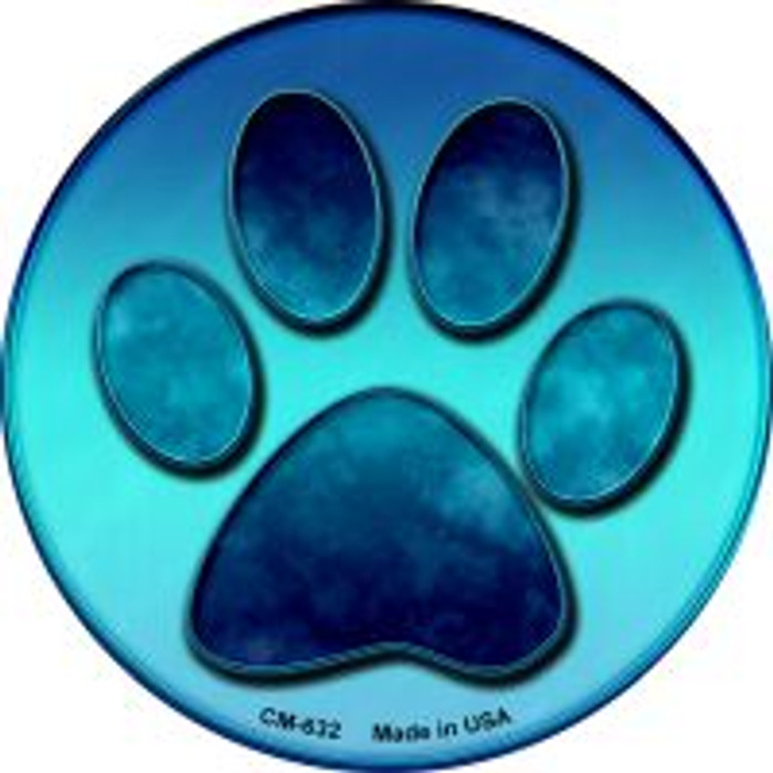 Paw Prints Wholesale Novelty Metal Mini Circle Magnet CM-632