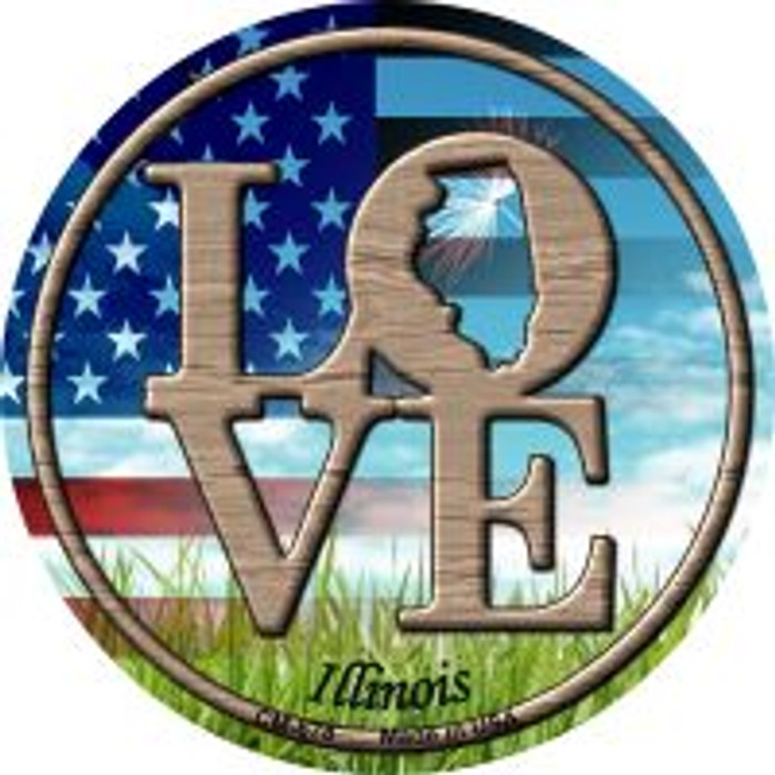 Love Illinois Wholesale Novelty Metal Mini Circle Magnet CM-678