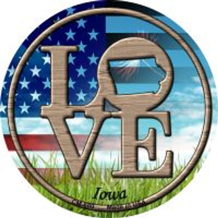Love Iowa Wholesale Novelty Metal Mini Circle Magnet CM-680
