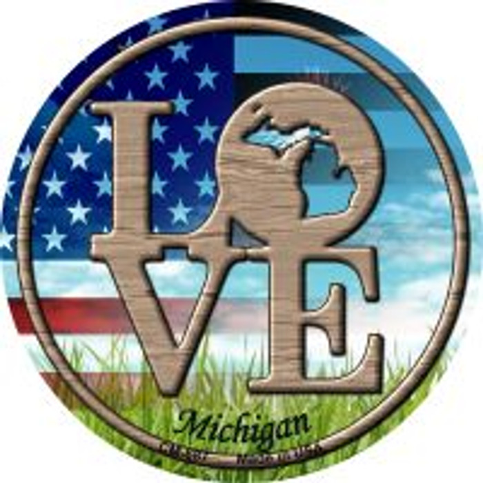 Love Michigan Wholesale Novelty Metal Mini Circle Magnet CM-687