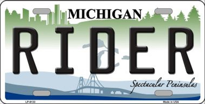 Rider Michigan Wholesale Metal Novelty License Plate LP-6133
