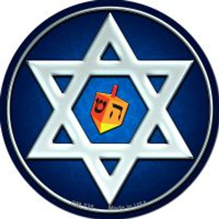 Hanukkah Star And Dreidel Wholesale Novelty Metal Mini Circle Magnet CM-725