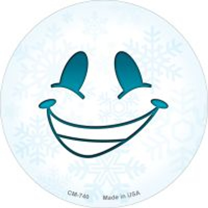 Smile Face Snowflake Wholesale Novelty Metal Mini Circle Magnet CM-740