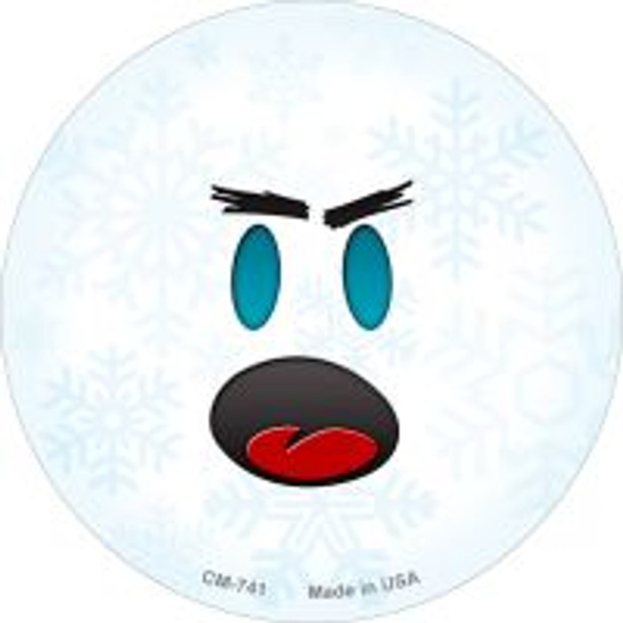 Shocked Face Snowflake Wholesale Novelty Metal Mini Circle Magnet CM-741