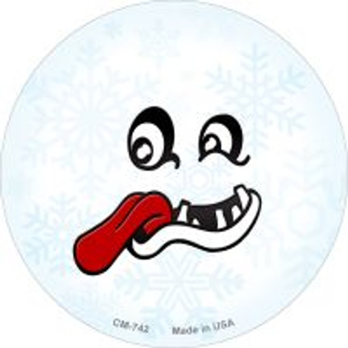 Freak Face Snowflake Wholesale Novelty Metal Mini Circle Magnet CM-742