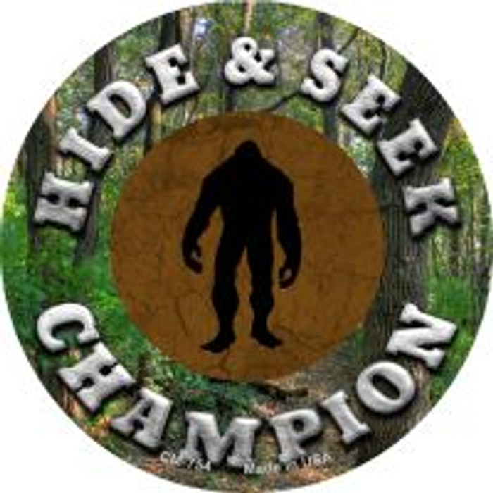 Hide and Seek Champion Bigfoot Wholesale Novelty Metal Mini Circle Magnet CM-754