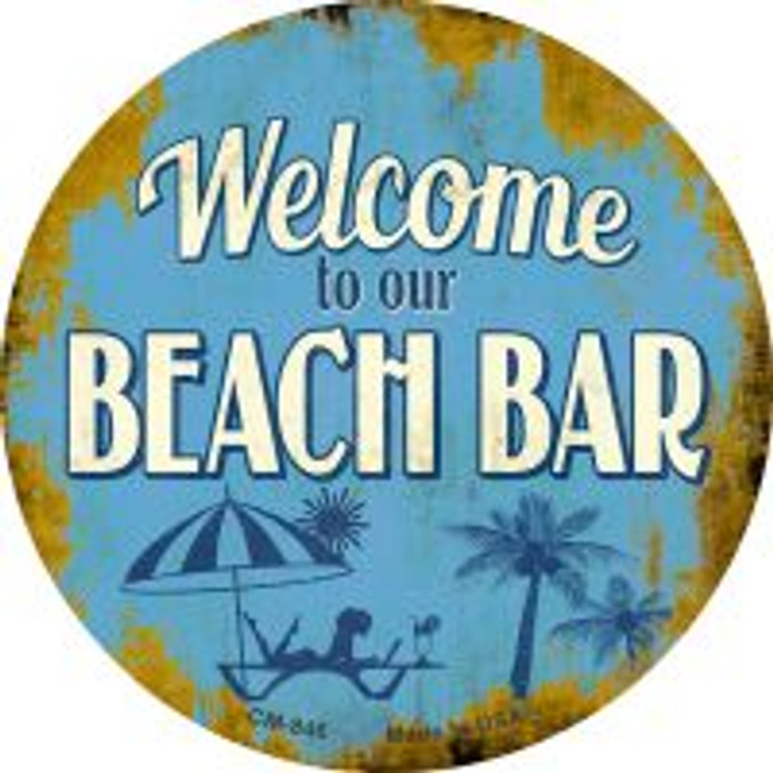 Welcome to our Beach Bar Wholesale Novelty Metal Mini Circle Magnet CM-846