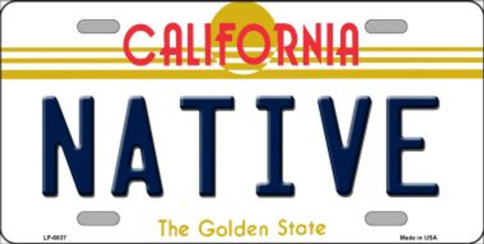 Native California Novelty Wholesale Metal License Plate LP-6837
