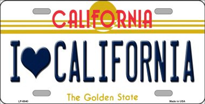 I Love California Novelty Wholesale Metal License Plate LP-6840