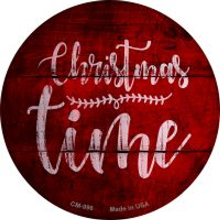 Christmas Time Wholesale Novelty Metal Mini Circle Magnet CM-996