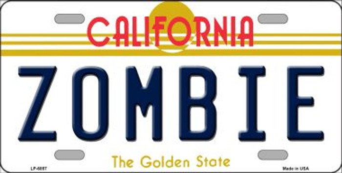 Zombie California Novelty Wholesale Metal License Plate LP-6857