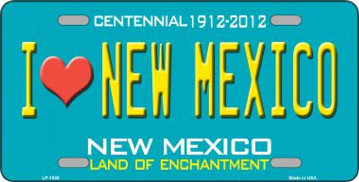 I Love New Mexico Novelty Wholesale Metal License Plate