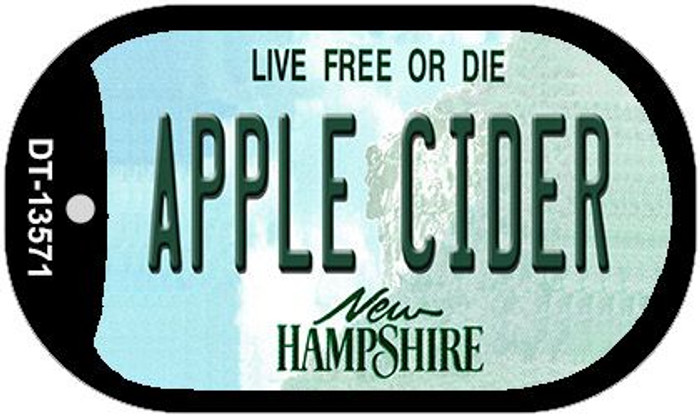 Apple Cider New Hampshire Wholesale Novelty Metal Dog Tag Necklace DT-13571