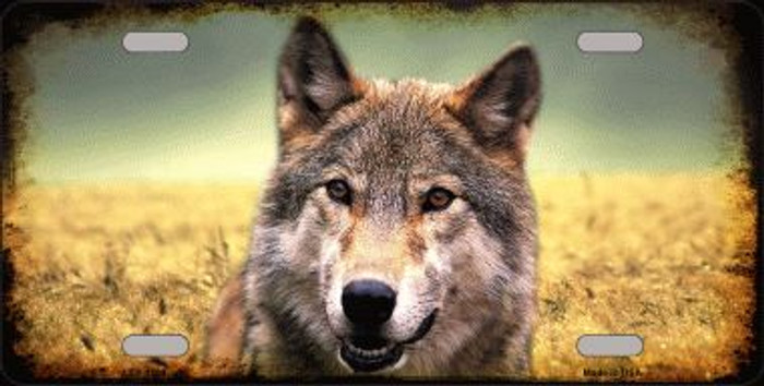 Wolf Novelty Wholesale Metal License Plate