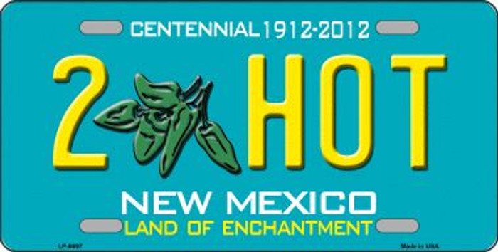 2 Hot Green New Mexico Novelty Wholesale Metal License Plate LP-6697