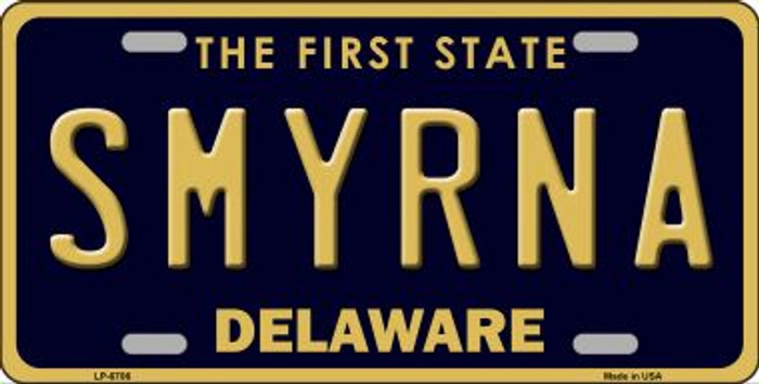 Smyrna Delaware Novelty Wholesale Metal License Plate LP-6706