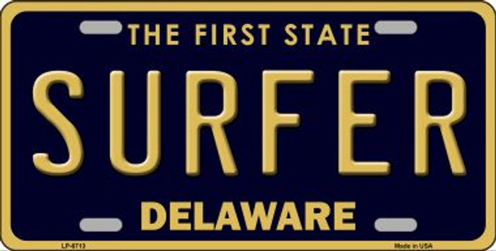Surfer Delaware Novelty Wholesale Metal License Plate LP-6713