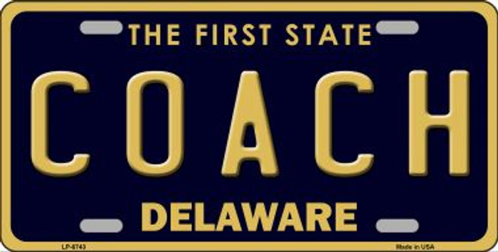 Coach Delaware Novelty Wholesale Metal License Plate LP-6743