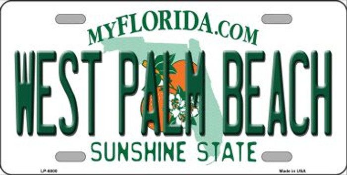 West Palm Beach Florida Novelty Wholesale Metal License Plate LP-6000