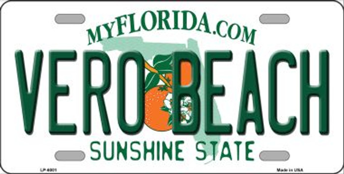 Vero Beach Florida Novelty Wholesale Metal License Plate LP-6001