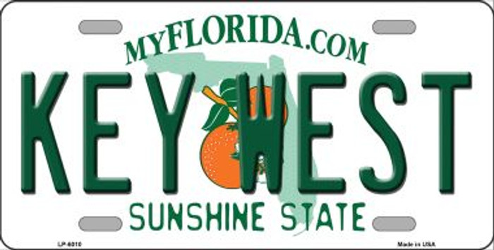 Key West Florida Novelty Wholesale Metal License Plate LP-6010