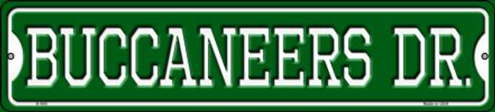 Buccaneers Dr Wholesale Novelty Small Metal Street Sign K-949