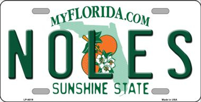 Noles Florida Novelty Wholesale Metal License Plate LP-6019