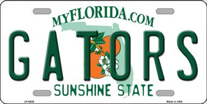 Gators Florida Novelty Wholesale Metal License Plate LP-6020