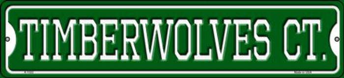 Timberwolves Ct Wholesale Novelty Small Metal Street Sign K-1022