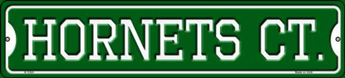 Hornets Ct Wholesale Novelty Small Metal Street Sign K-1024