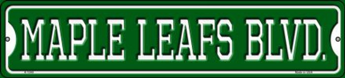 Maple Leafs Blvd Wholesale Novelty Small Metal Street Sign K-1048