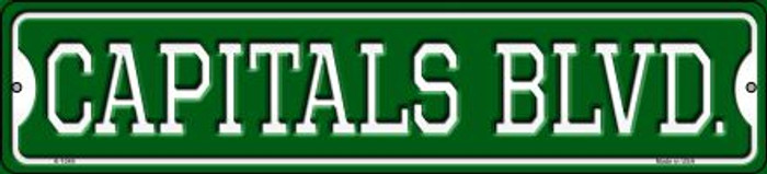 Capitals Blvd Wholesale Novelty Small Metal Street Sign K-1049