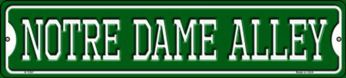 Notre Dame Alley Wholesale Novelty Small Metal Street Sign K-1097