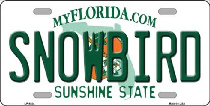 Snowbird Florida Novelty Wholesale Metal License Plate LP-6034
