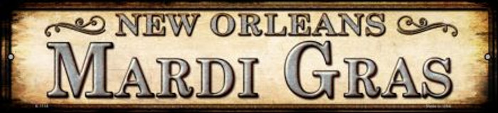 Mardi Gras New Orleans Wholesale Novelty Small Metal Street Sign K-1114