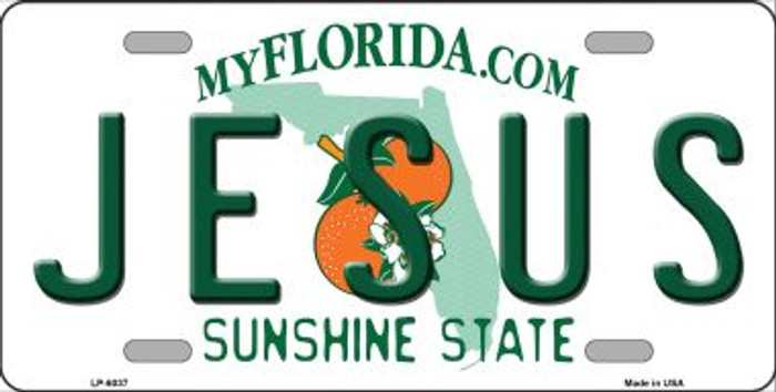 Jesus Florida Novelty Wholesale Metal License Plate LP-6037