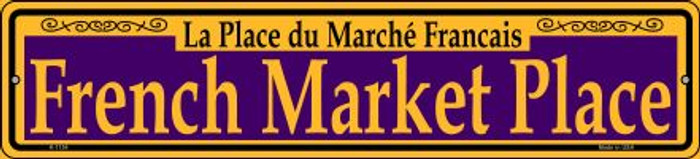 French Market Place Purple Wholesale Novelty Small Metal Street Sign K-1154