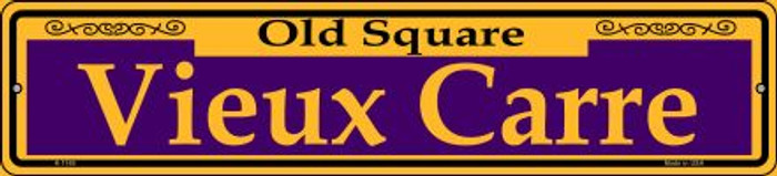 Vieux Carre Purple Wholesale Novelty Small Metal Street Sign K-1169