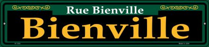 Bienville Green Wholesale Novelty Small Metal Street Sign K-1202