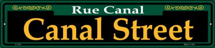 Canal Street Green Wholesale Novelty Small Metal Street Sign K-1223