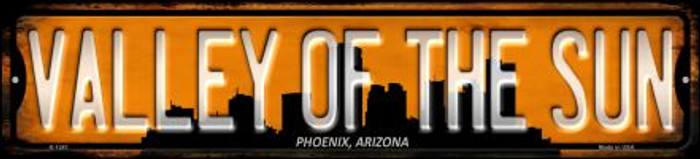 Phoenix Arizona Valley of the Sun Wholesale Novelty Small Metal Street Sign K-1241