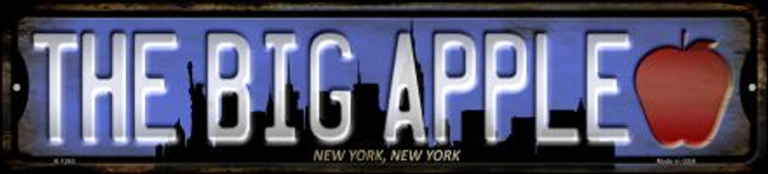 New York The Big Apple Wholesale Novelty Small Metal Street Sign K-1243