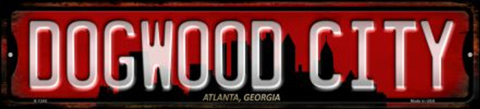 Atlanta Georgia Dogwood City Wholesale Novelty Small Metal Street Sign K-1249