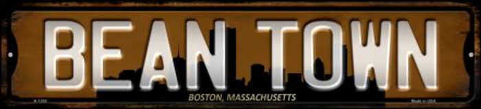 Boston Massachusetts Bean Town Wholesale Novelty Small Metal Street Sign K-1250