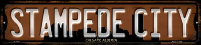 Calgary Alberta Stampede City Wholesale Novelty Small Metal Street Sign K-1266