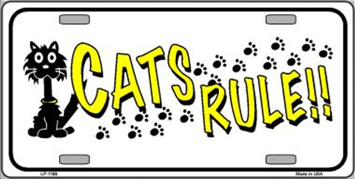 Cat's Rules Novelty Wholesale Metal License Plate